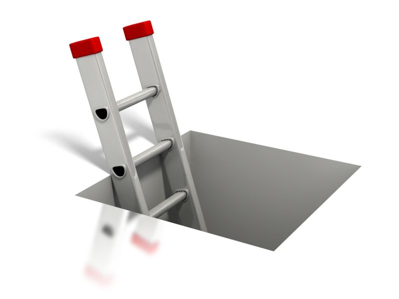 Clipart - Ladder Coming Out of Square Hole
