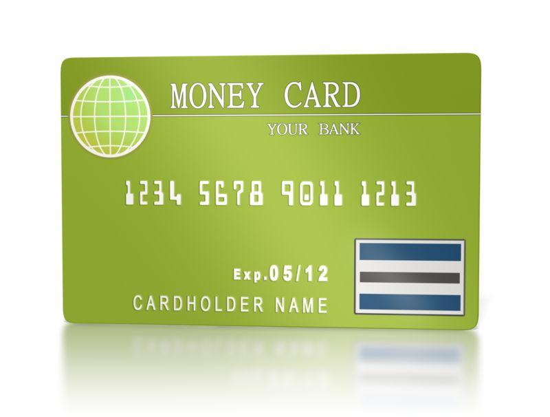Clipart - Bank Money Card