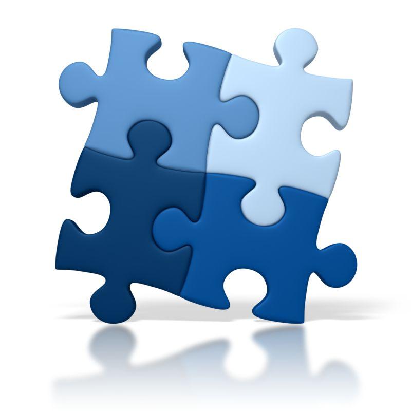Clipart - Blue Puzzle Square