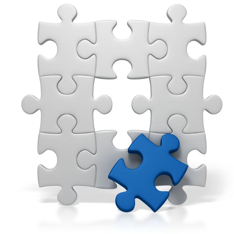 Clipart - Blue Puzzle Piece Missing