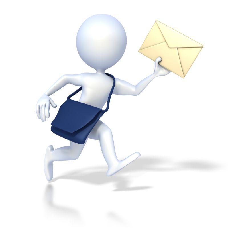 Clipart - 3D Mailman Deliver