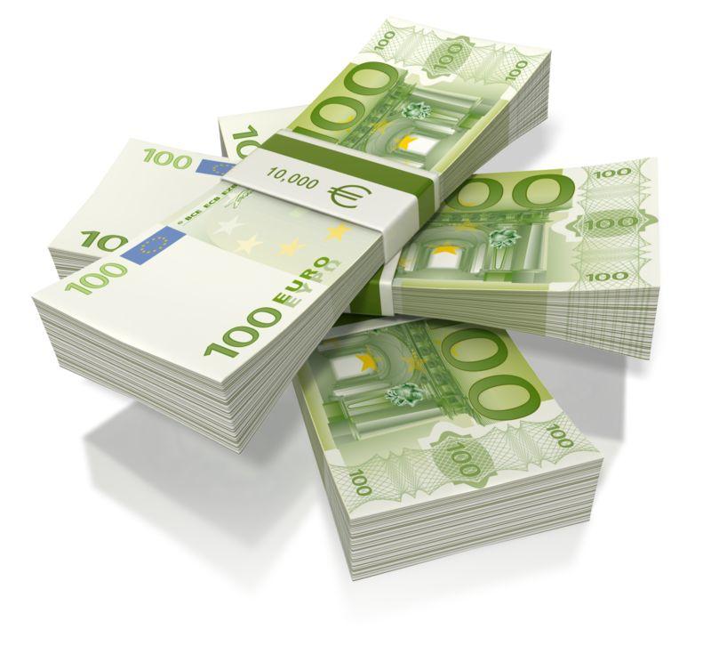 Clipart - Euro Money Three Stack