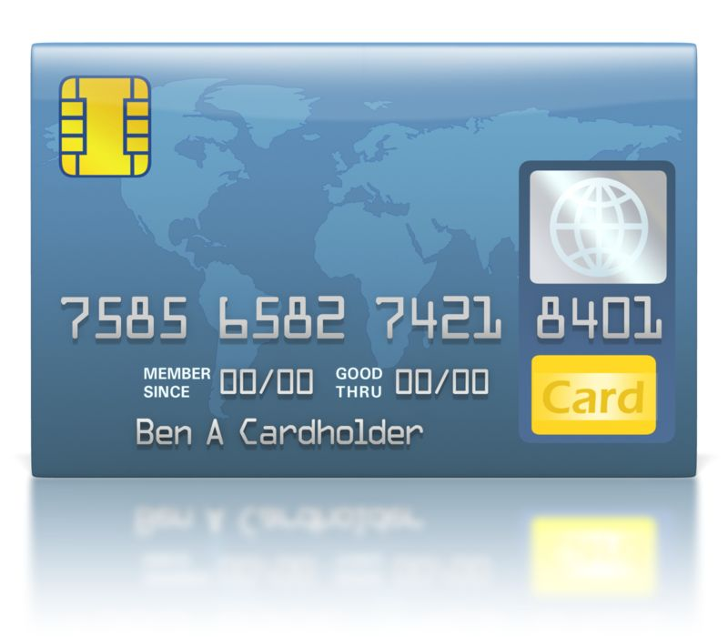 Clipart - Credit Card Blue World