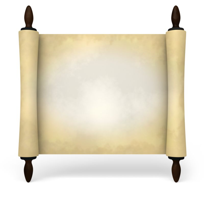 Clipart - Ancient Scroll Rotated