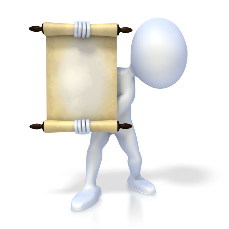 Clipart - Figure Holding Scroll
