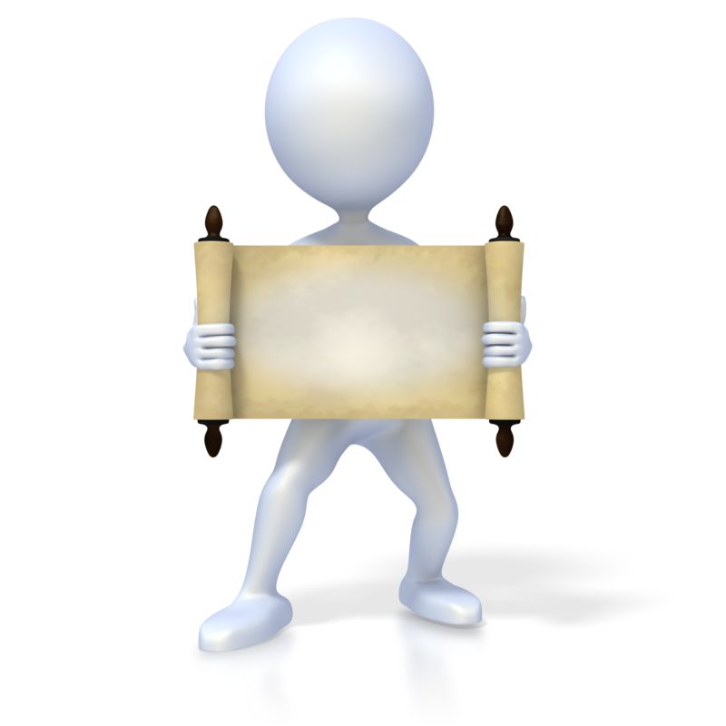 Clipart - Figure Holding Old Scroll