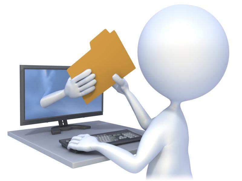 Clipart - Computer File Transfer