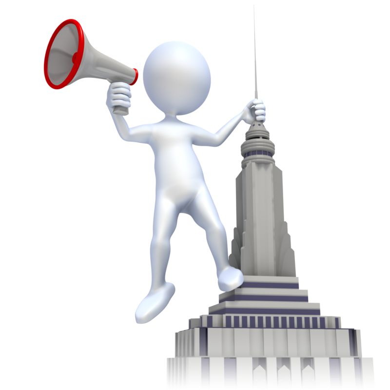Clipart - Shout From Roof