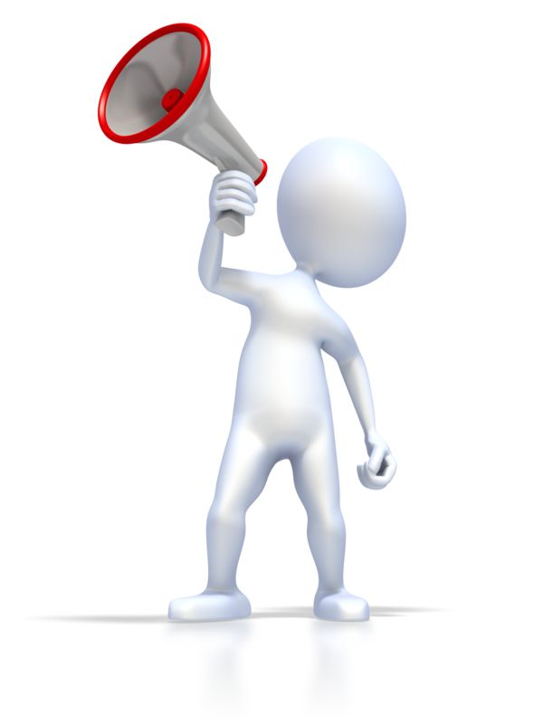 Clipart - Figure With Megaphone