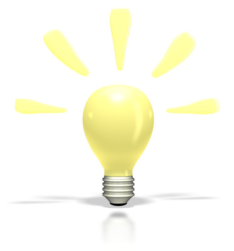 Clipart - Bright Idea Light Bulb