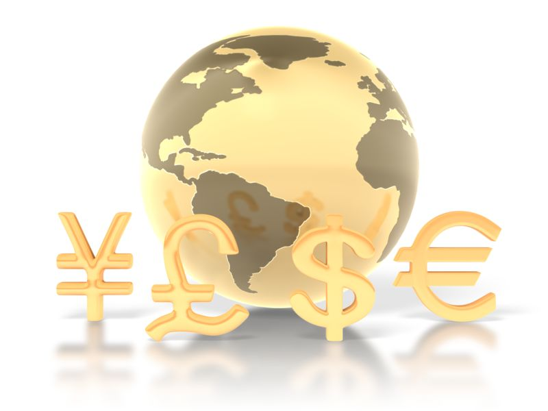 Clipart - Golden World Currency