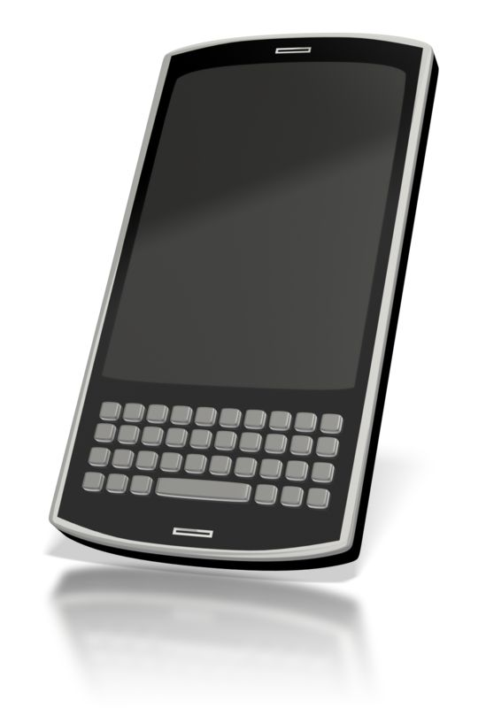Clipart - Touch Smart Phone Blank