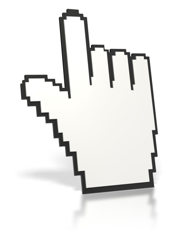 Clipart - Mouse Finger Point Up