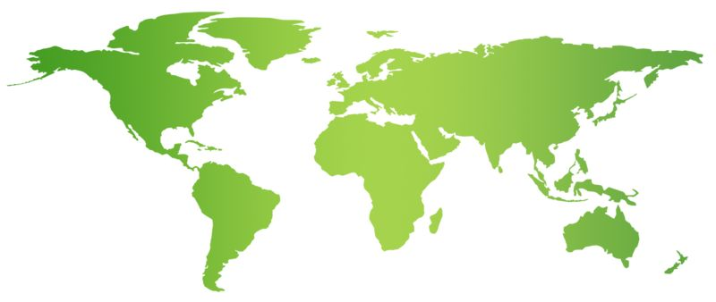 Clipart - Green Flat World Map