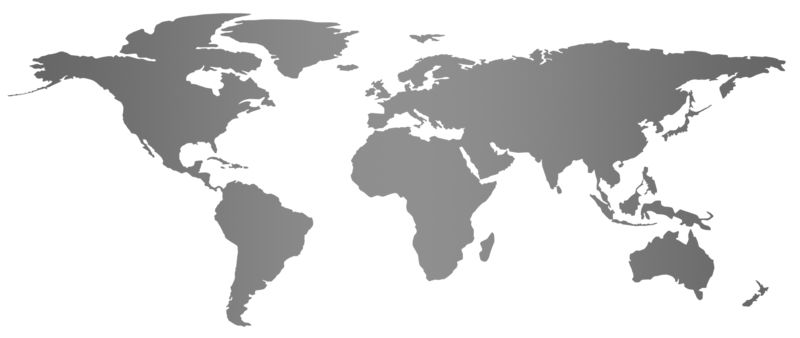 Clipart - Gray Flat World Map