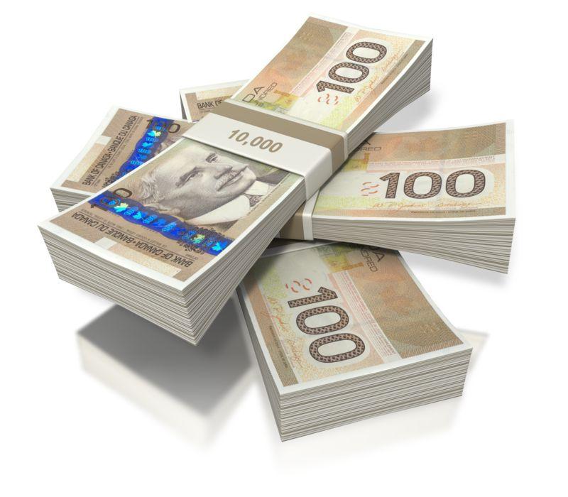 Clipart - Canadian Money Three Bundles