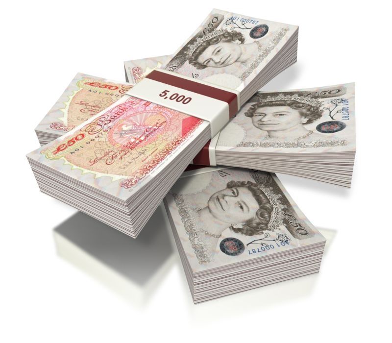Clipart - British Pounds Money Three Bundles