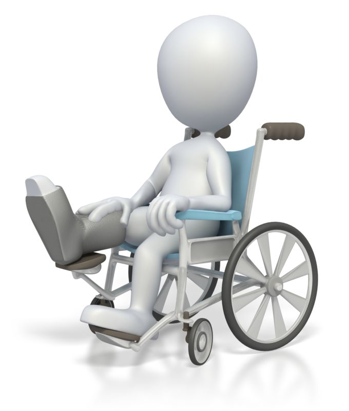 Clipart - Stick Figure In Wheelchair