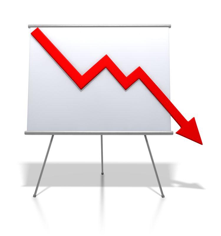 Clipart - Financial Graph Decrease
