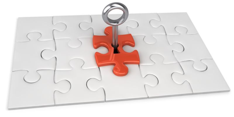 Clipart - Red Square Puzzle Key