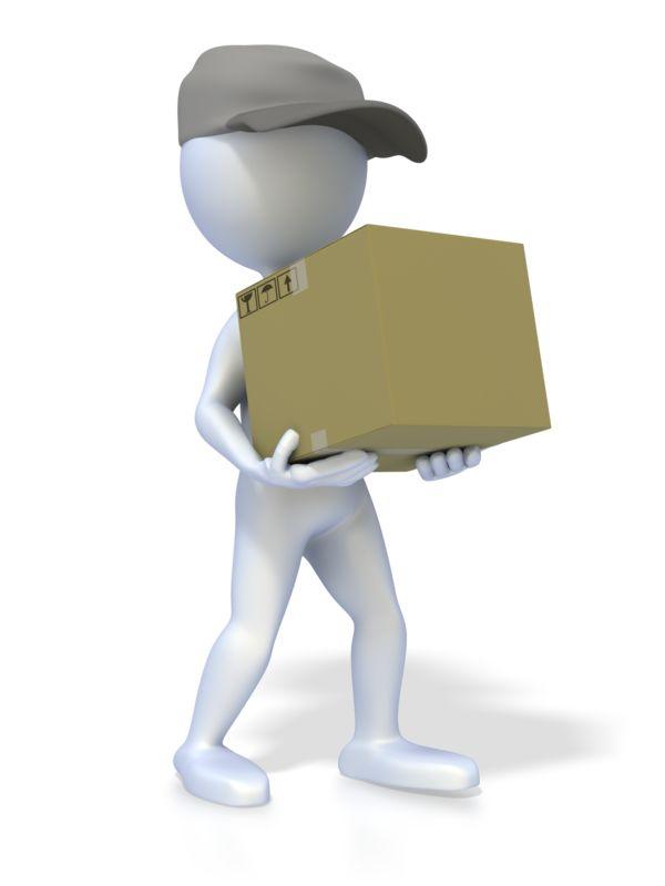 Clipart - 3D Figure Delivery Person