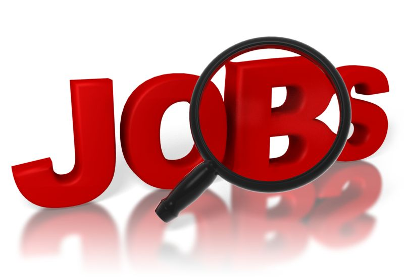 Clipart - Jobs Search Magnifying Glass