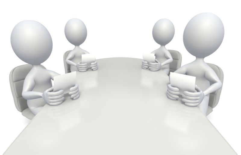 Clipart - Conference Room Meeting