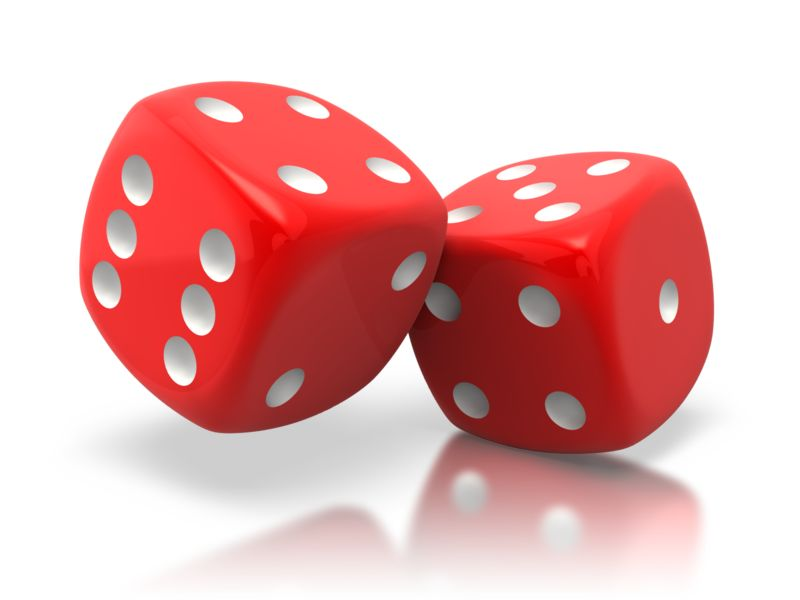 Clipart - Pair Of Red Dice Tilted