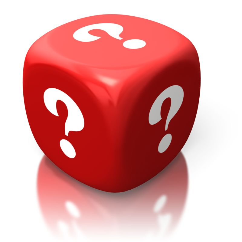 Clipart - Question Marks On Red Die