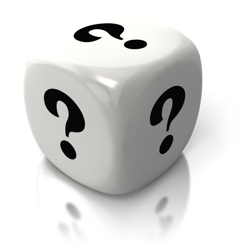 Clipart - Question One White Dice