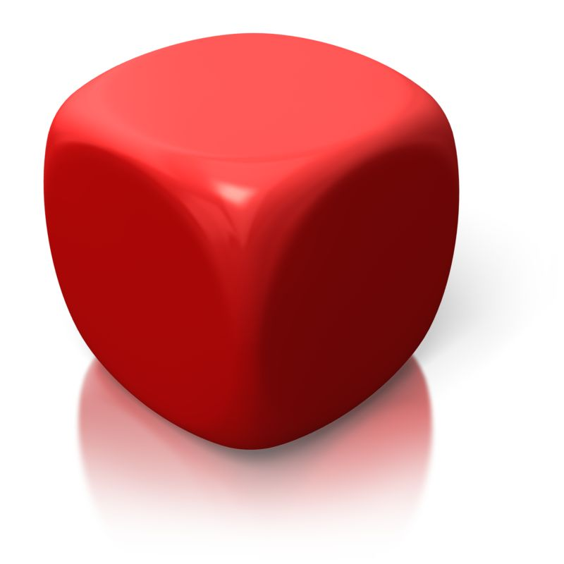 Clipart - Blank Red Dice