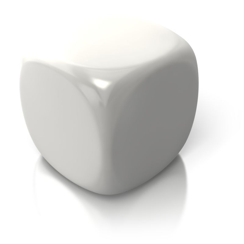 Clipart - Blank White Dice