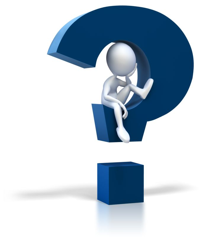 Clipart - Stick Figure Sitting In Question Mark