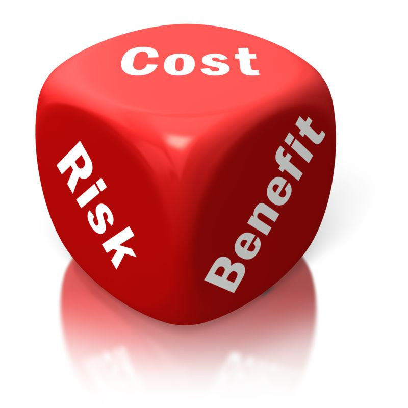 Clipart - Cost Benefit Risk Red Dice