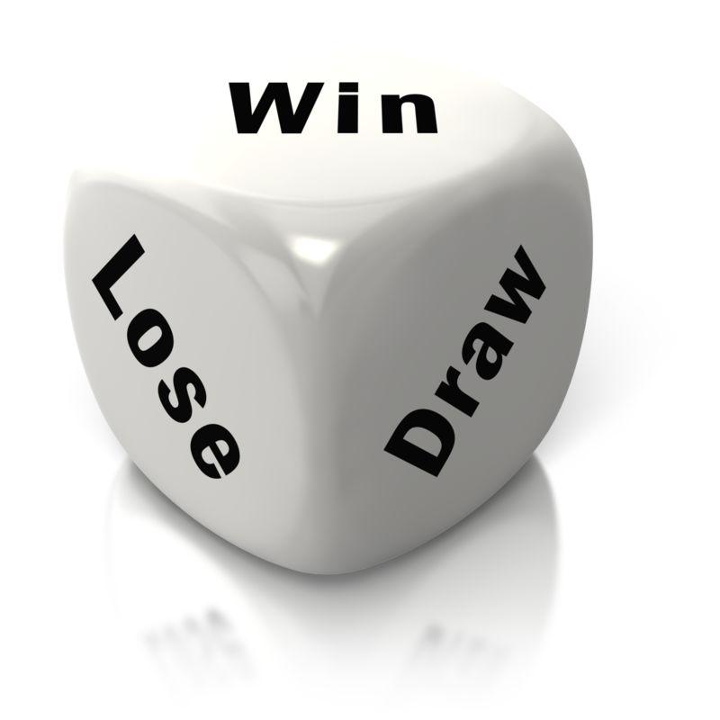 Clipart - Win Lose Draw White Dice