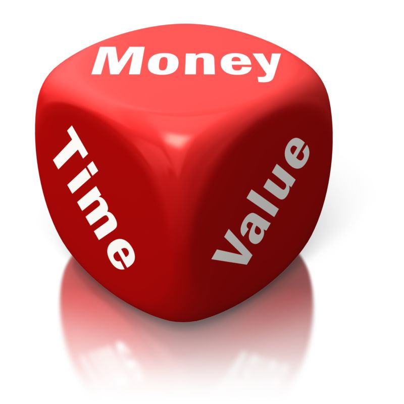 Clipart - Money Time Value Red Dice