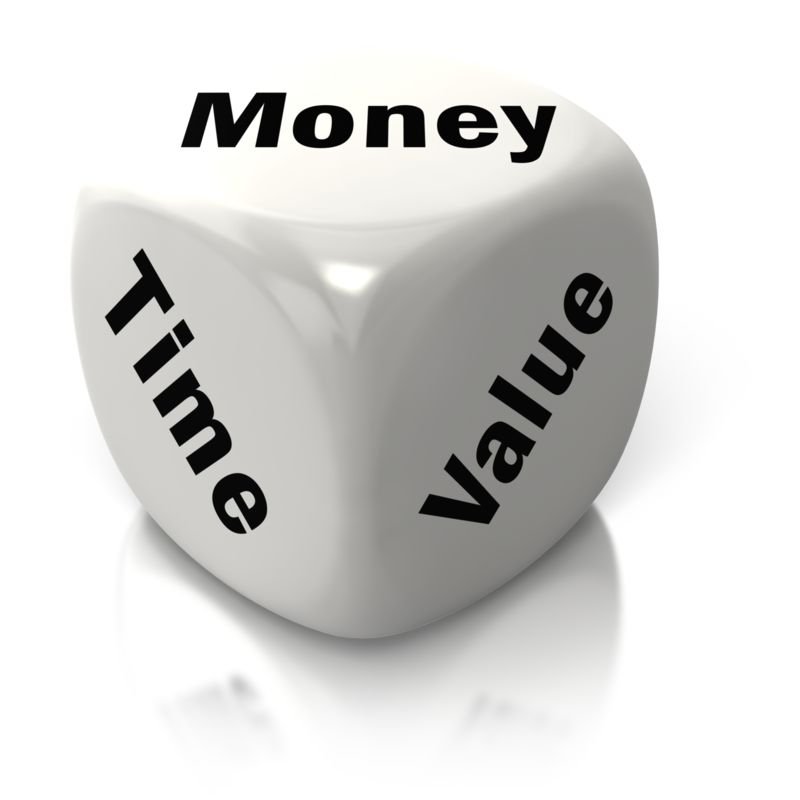 Clipart - Money Time Value White Dice