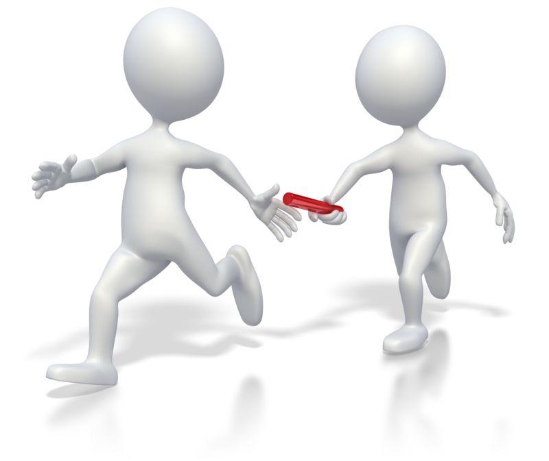 Clipart - Passing Baton Teamwork