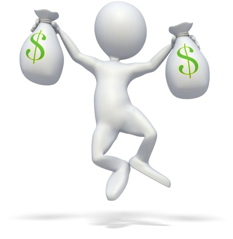 Clipart - Money Celebration