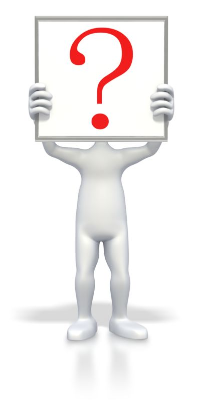 Clipart - Stick Figure Holding Question Sign