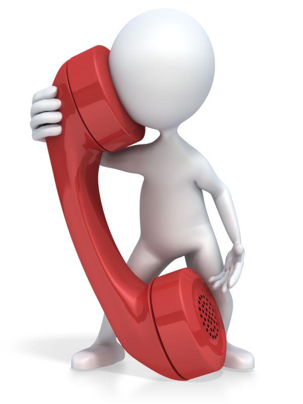 Clipart - 3D Figure Talks on a Giant Phone