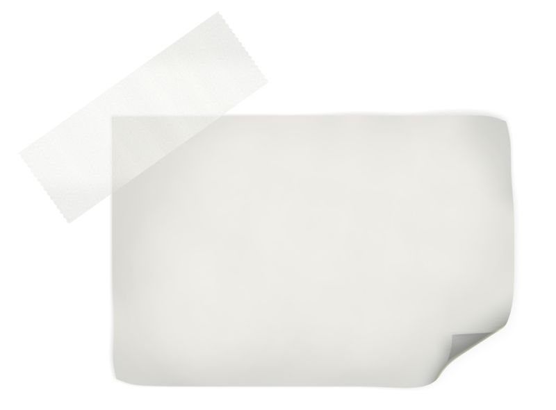 Clipart - White Note With Tape