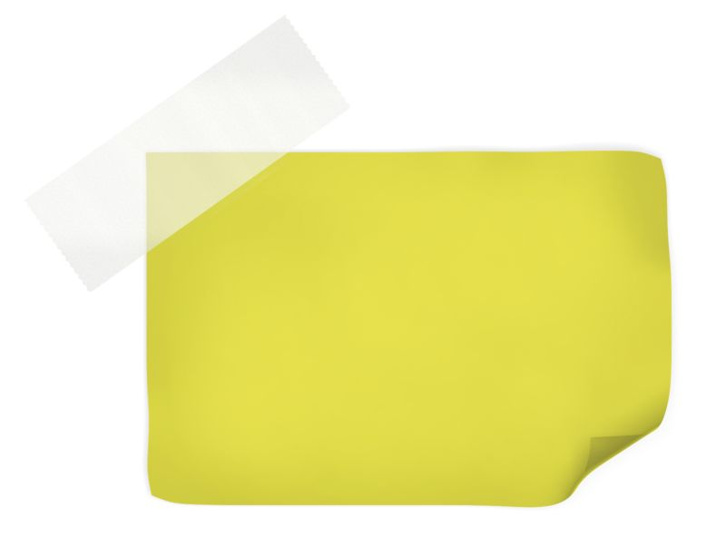 Clipart - Yellow Note With Tape