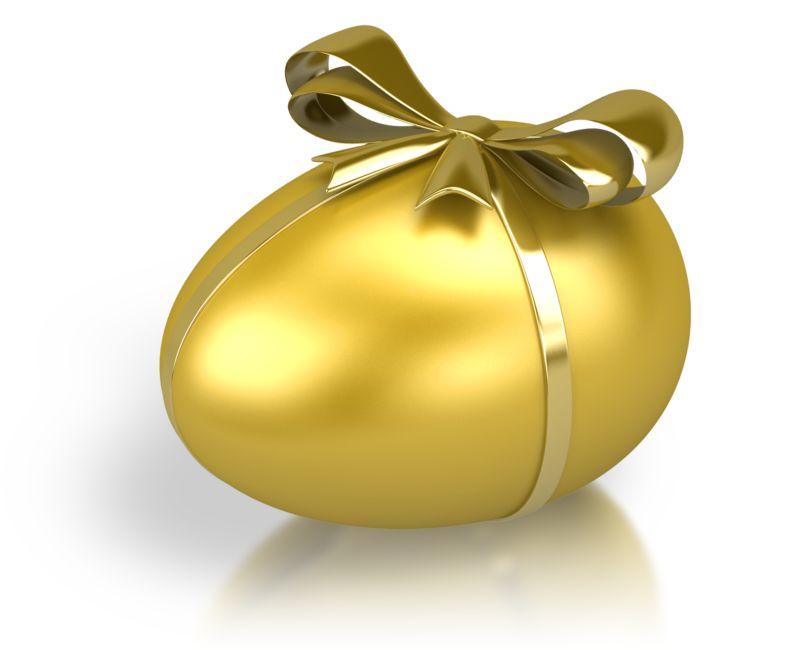 Clipart - Gold Nest Egg Ribbon