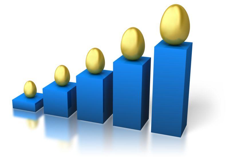 Clipart - Egg Graph Growth