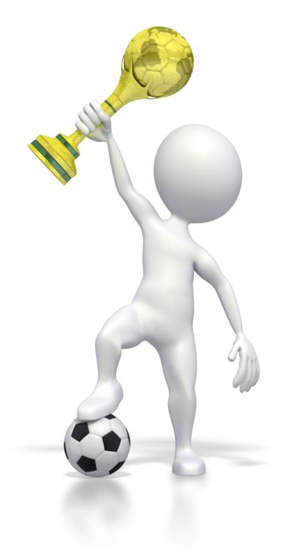Clipart - Holding World Soccer Trophy