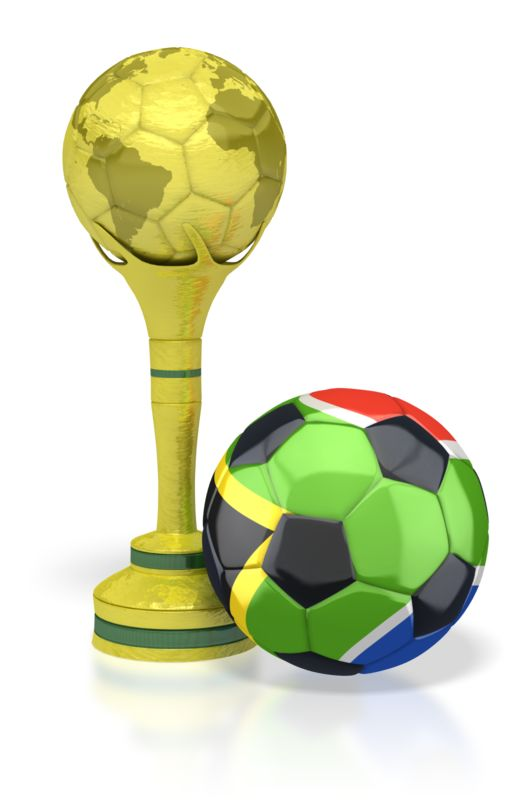 Clipart - South Africa Soccer Ball with Trophy