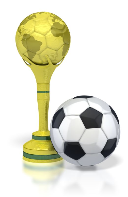 Clipart - Trophy with Soccer Ball