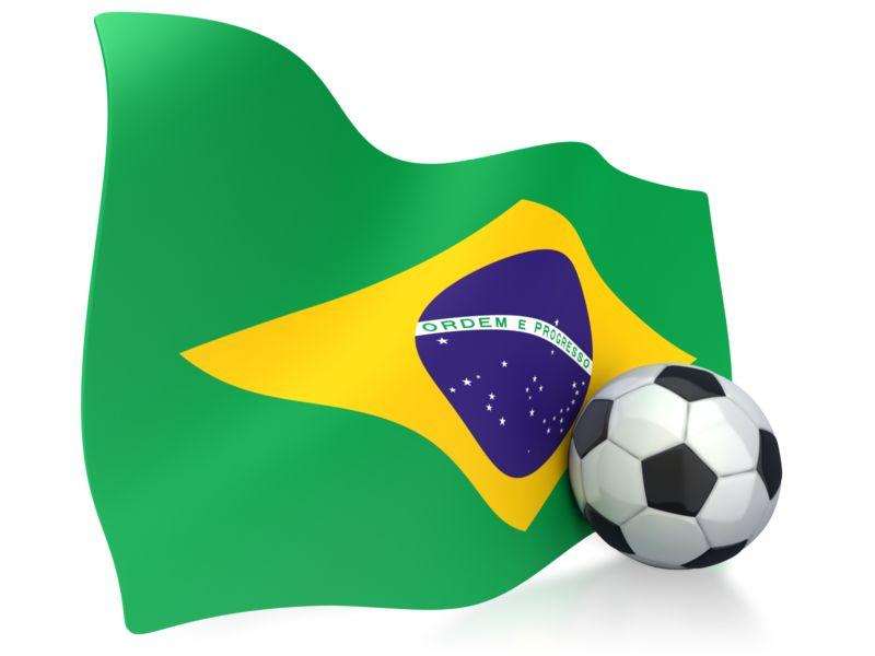 Clipart - Brazil Flag With Soccer Ball