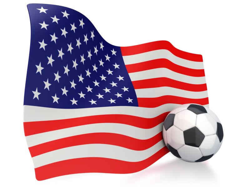Clipart - American Flag With Soccer Ball